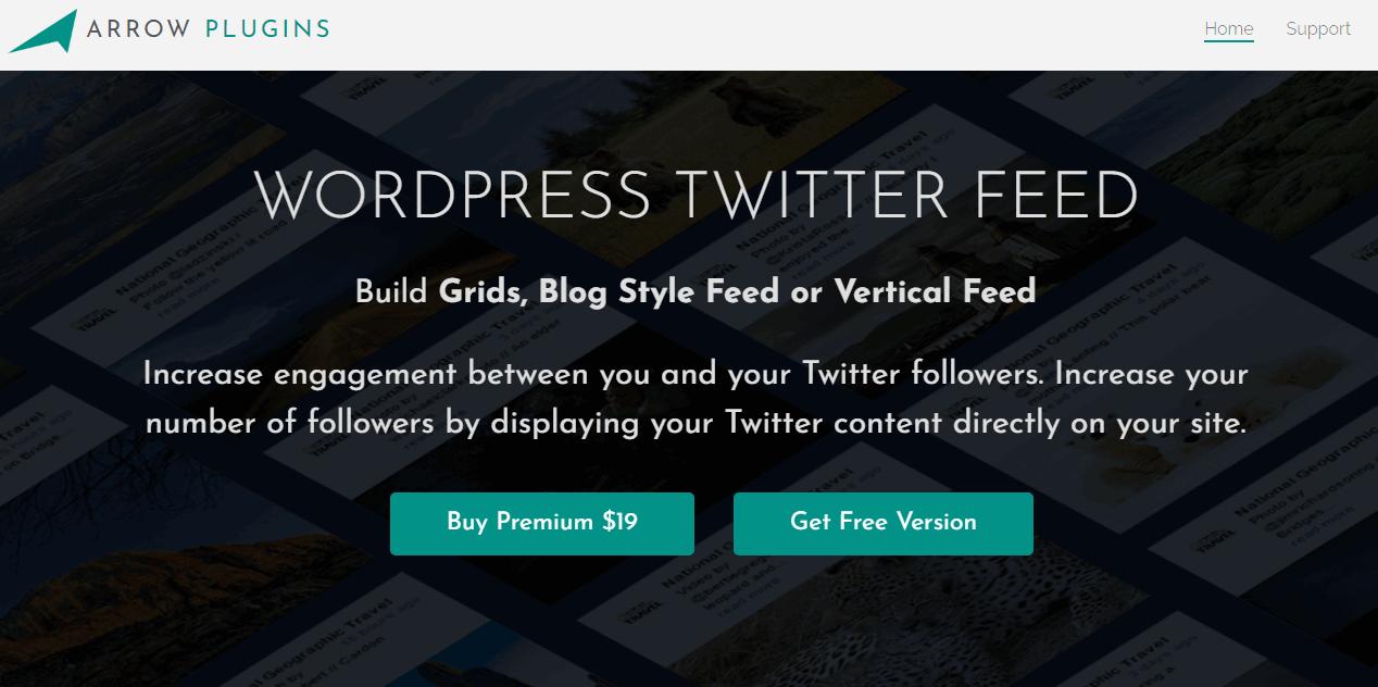Arrow WordPress Twitter Feed Plugin