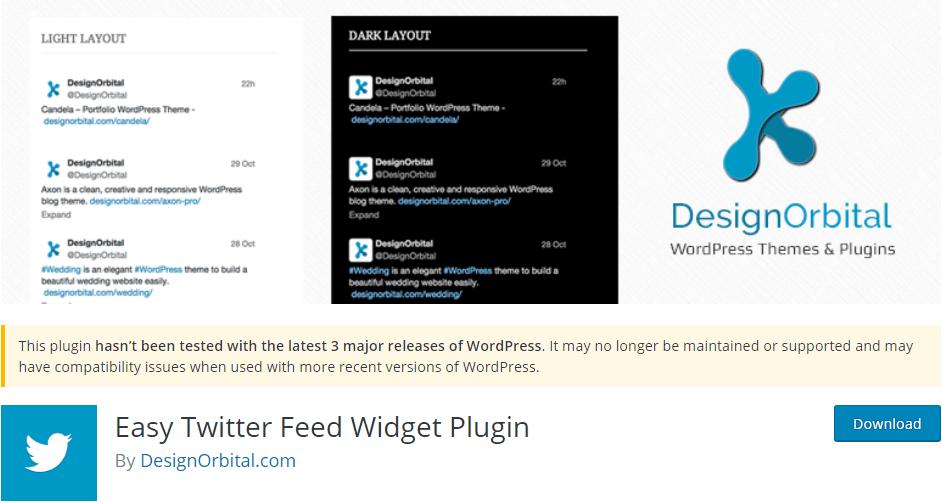 Easy Twitter Feed Widget WordPress Plugin