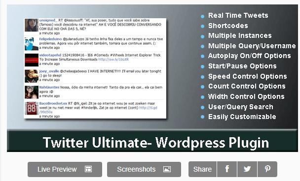 Twitter Ultimate WordPress Plugin