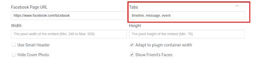 Facebook tabs